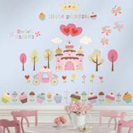 RoomMates Wandsticker Cupcake Castle