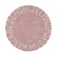 Lorena Canals waschbarer, runder Teppich ABC Vintage Nude-Natural Ø150cm