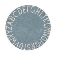 Lorena Canals waschbarer, runder Teppich ABC Vintage Blue-Natural Ø150cm