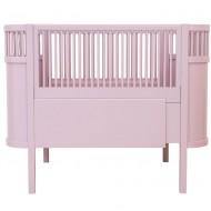 Sebra Babybett bzw. Juniorbett in rosa - mitwachsend