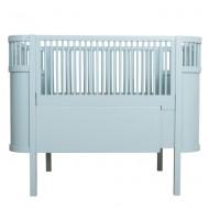 Sebra Babybett bzw. Juniorbett in blau - mitwachsend