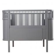 Sebra Babybett bzw. Juniorbett in grau - mitwachsend