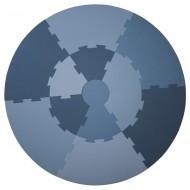Sebra Spielmatte wolkenblau, Durchmesser: 122cm