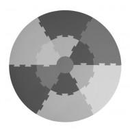Sebra Spielmatte grau, Durchmesser: 122cm