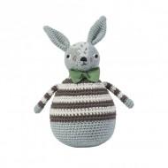 Sebra Häkel-Stehaufmännchen Kaninchen Robert