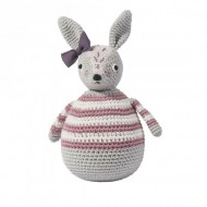 Sebra Häkel-Stehaufmännchen Kaninchen Roberta