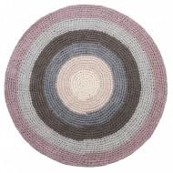 Sebra Häkelteppich pastell lila