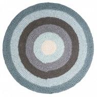 Sebra Häkelteppich pastell blau