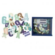 Holzmagnete Zahlen in blauer Holzbox von Sebra