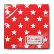 Papierservietten Sterne rot von Krima&Isa