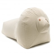 SITTING FRIENDS Sitzsack Löwe LEO in beige- outdoorgeeignet