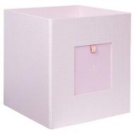 Semikolon Aufbewahrungsbox aus Pappe rosa Vichykaro
