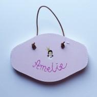 Handbemaltes Türschild rosa, AMELIE