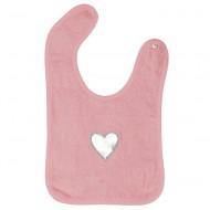 Taftan Lätzchen Frottee Herz rosa