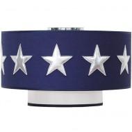 Taftan Deckenlampe dunkelblau mit silbernen Sternen
