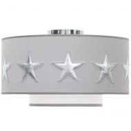 Taftan Deckenlampe grau mit silbernen Sternen