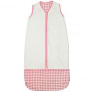 Taftan Sommerschlafsack weiß-rosa Vichykaro verstellbar 70-90cm