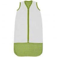 Taftan Sommerschlafsack grün Vichykaro verstellbar 70-90cm