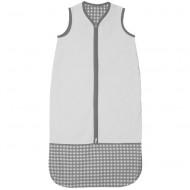Taftan Sommerschlafsack grau Vichykaro verstellbar 70-90cm