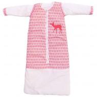 Taftan Winterschlafsack rosa gemustert mit Reh - verstellbar 70-90cm