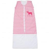 Taftan Sommerschlafsack rosa gemustert mit Reh - verstellbar 70-90cm