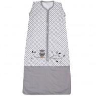 Taftan Sommerschlafsack grau gemustert mit Eule - verstellbar 70-90cm