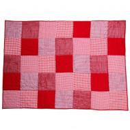 Taftan Tagesdecke Patchwork rot in zwei Größen