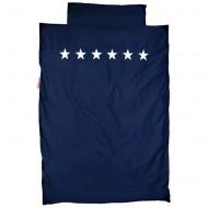 Bettwäsche dunkelblau mit silbernen Sternen von Taftan in 2 Größen