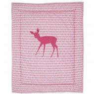 Taftan Krabbeldecke bzw. Laufstalleinlage in rosa gemustert mit Reh