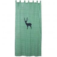 Vorhangschal grün gemustert mit Hirsch von Taftan