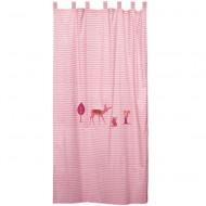 Vorhangschal pink gemustert mit Reh von Taftan