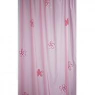 Vorhangschal rosa mit Blumen von Taftan