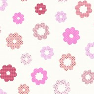 Tapete Blumen rosa