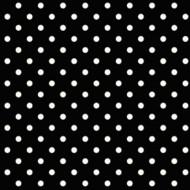Tapete schwarz mit weißen Punkten