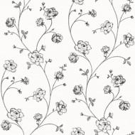 Tapete Blumenranke schwarz