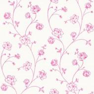 Tapete Blumenranke pink