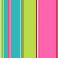 Tapete Streifen türkis-grün-pink