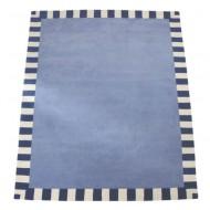 Teppich Stahlblau Steifen Annette Frank: 200x280cm