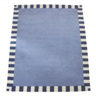 Teppich Stahlblau Steifen Annette Frank 140x200cm