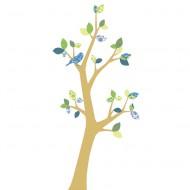 Inke Tapetenbaum 3  mit braunem Stamm und grün-blauen Blätternn