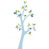Inke Tapetenbaum 3  mit blauem Stamm und grün-blauen Blättern