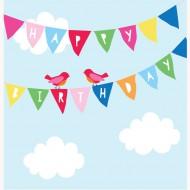 Glückwunsch-Karte Wimpel zum Geburtstag