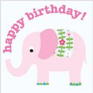 Glückwunsch-Karte Elefant zum Geburtstag