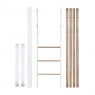 Oliver Furniture Wood Collection Umbauset von Mini+ in Mini+ halbhohes Bett in weiß/Eiche