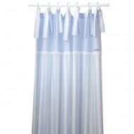 Annette Frank Vorhangschal blau-weiß gestreift 150x250cm
