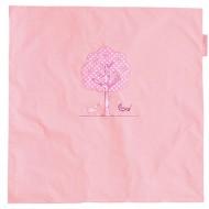 Taftan Kinderwagen-/Wiegendecke rosa mit Baummotiv