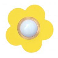 Waldi Deckenleuchte Blume in gelb
