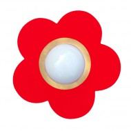 Waldi Deckenleuchte Blume in rot