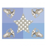 Waldi Deckenleuchte blau mit Stern in grau