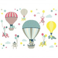 Anna Wand Wandsticker Hot Air Balloons